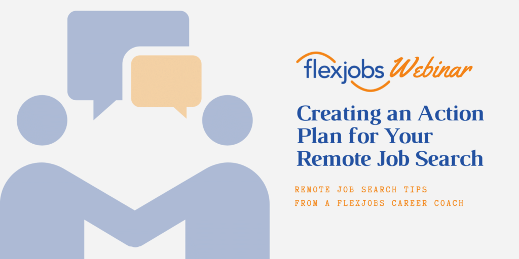 create a remote jobs search action plan
