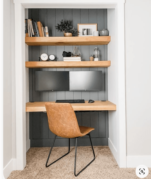 Closet Office with a Minimal Desk