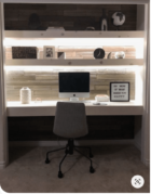 Closet Office under cabinet lighting
