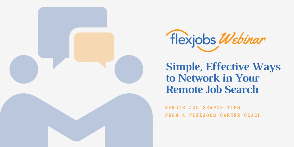 networking tips for remote jobs search