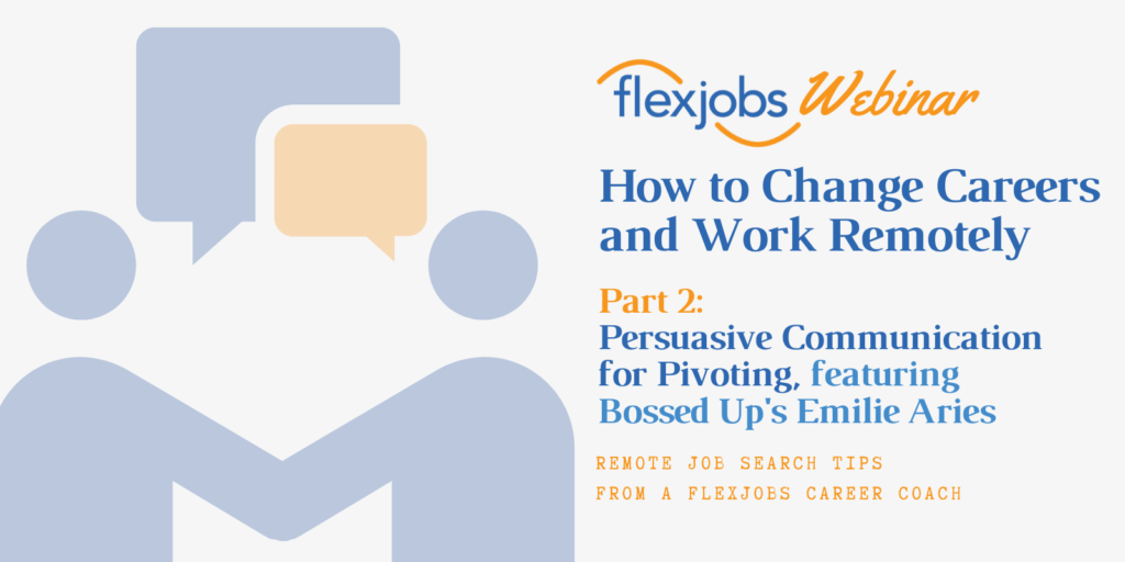 persuasive communication for career pivoting