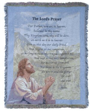 Lord's Prayer Comfort Tapestry Throws