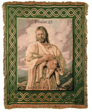 23rd Psalm Comfort Tapestry Throws