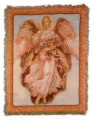 Golden Angel Tapestry Throws