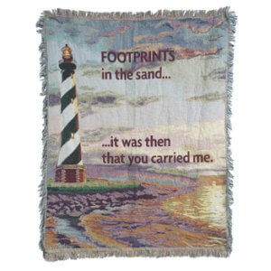 It Was Then You Carried Me Tapestry Throw