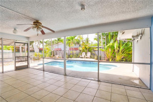 HERES YOUR CHANCE TO OWN A WELL APPOINTED 3 BR/ 2 BA/ 1 CAR / POOL HOME IN CORAL HEIGHTS. FEATURES TRUE SPLIT FLOOR PLAN FOR ALL 3 BEDROOMS. KITCHEN HAS STAINLESS STEEL APPLIANCES, SEPARATE LAUNDRY ROOM, LOTS OF STORAGE WITH BONUS ROOM, 95% IMPACT GLASS, PAVERED CIRCUAR DRIVEWAY, SCREENED IN PATIO AREAS FOR OUTDOOR ENTERTAINING, HEATED POOL W/ WATERFALL. EASY ACCESS TO US1, I-95 AND 5-10 MIN DRIVE TO THE BEACHES, GALLERIA MALL, SHOPS, RESTAURANTS, MOVIES, 6+ GROCERY STORES AND MORE!.. CALL TODAY!!