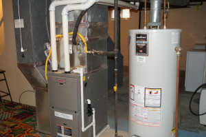 High efficiency furnace and new water heater
