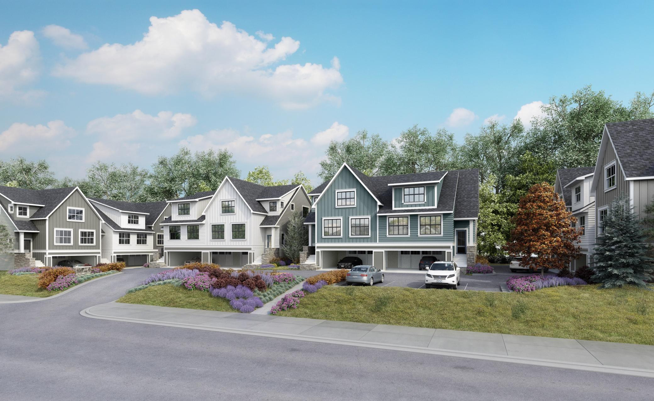 Sheldon Place is a new 10-unit luxury townhome development by Schaefco Development. All units have 3 bedrooms + den, 3 bathrooms and 2-car garages with storage.