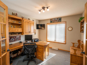 Working from home now? The executive office is just off the entry foyer. French doors provide privacy when needed.
