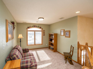 The upstairs landing offers options as reading nook, 2nd office, display or play area.