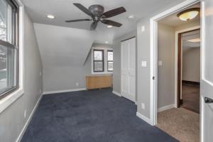 Upstairs bedroom, new flooring, updated lighting, newly sheet rocked