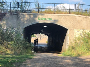 Nisswa Lake park tunnel to main street Nisswa