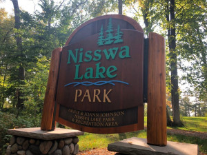 The New Nisswa Lake Park is now complete with boat landing, docks, amphitheater, trails, picnicking