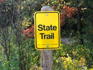 Paul Bunyan Trail hookup at community entrance