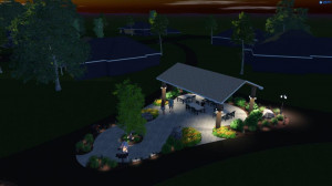 Day or night enjoyment at the Pine Trails pavilion