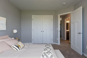 All bedrooms have walkin or french door closets in all models
