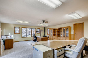 Currently used as an office, this room would be a perfect game room, work out room, or anything you can imagine with its additional gas fireplace.
