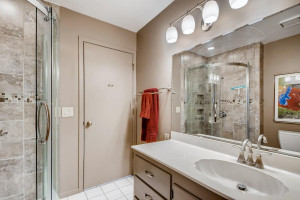 Step right into the shower from the second bedroom, or use for the guests you're entertaining.
