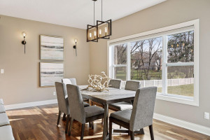 Fantastic Dining Room with large windows overlooking your backyard
