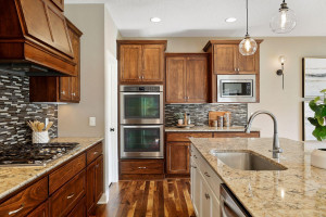 Enjoy cooking with double ovens and a gas cooktop
