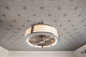 How fantastic is this ceiling and light fixture?!