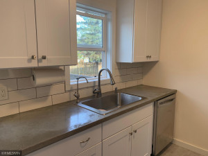 Concrete Counters and Subway Tile backsplash