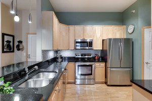 Gorgeous kitchen with newer stainless steel appliances