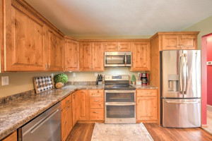 Stunning cabinets and stainless steel appliances