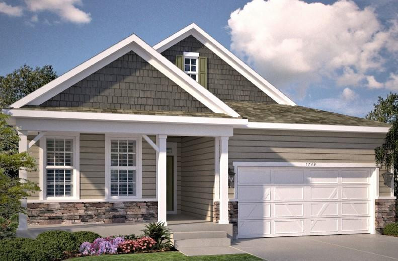 Heartland Cottage Elevation LL. Color of actual home is White.