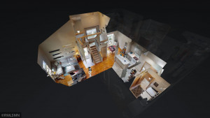 Main floor dollhouse view. Checkout the 3D virtual tour