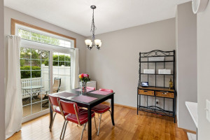Dining area with easy access to the patio