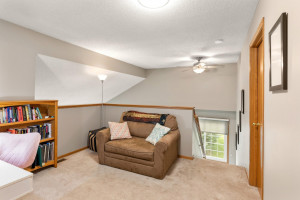 Loft space makes a great family room or office