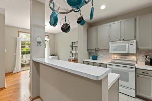 Plenty of natural light fills the kitchen