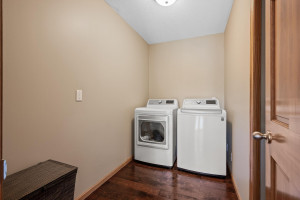 Upstairs Laundry with space to add a folding table!