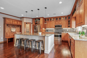 Eat up at the island or just enjoy the immense countertop space