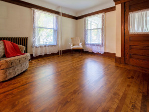 Beautiful Birch/Maple hardwood floors through out the main level. The original Mill work in this home is breathtakingly beautiful.