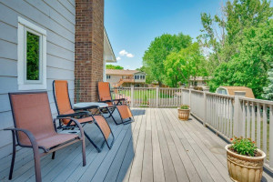 Easy Access to Deck from Kitchen/Dining Area!