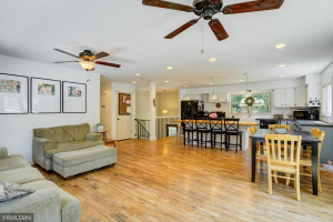 Total Open concept to Living and Dining Area