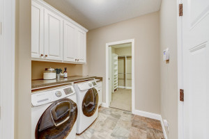 Laundry room is just off the master closet