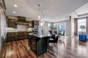 Great open layout from kitchen, dining to the living room
