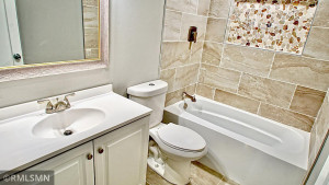 Completely remodeled Full Bath on the Main Level