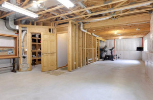 Perfect basement for the kids to rollerskate in winter or build equity by finishing the basement!
