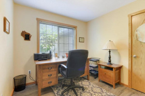 Main level office, den or can serve as a fourth bedroom on the main level as it has a closet.