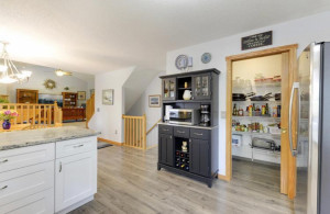 A large walk-in-pantry really completes this kitchen!