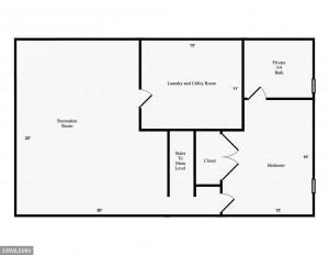 Lower Level Floor Plans - 1010 W Center Street