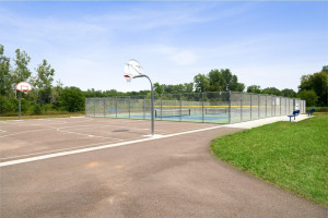 Park, trail, and courts within walking distance