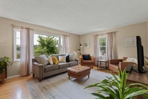Main floor living room with hardwood floors