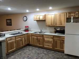 Hickory cabinets add warmth to the LL great room.