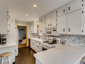 Renovated kitchen with a lot of storage and counter space