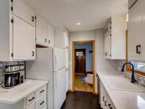 luxury vinyl floor in kitchen for easy upkeep